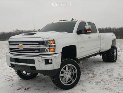 "2018 Chevrolet Silverado 3500 HD - 22x10 -19mm - Mayhem Monstir - Suspension Lift 7"" - 35"" x 12.5"""