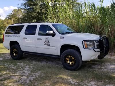 "2007 Chevrolet Suburban 1500 - 18x9 -13mm - Tuff T1a - Suspension Lift 3.5"" - 275/70R18"