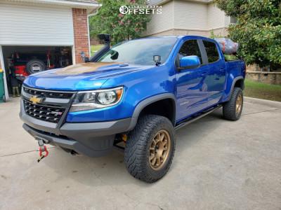 2018 Chevrolet Colorado - 17x8.5 0mm - Method Mr702 - Leveling Kit - 265/65R17