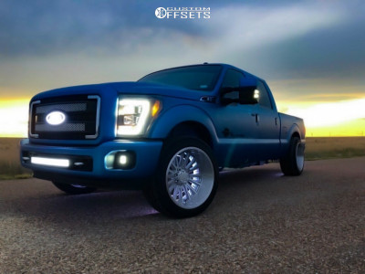 2014 Ford F-250 Super Duty - 22x12 -44mm - V-Rock VR11 - Lowered on Springs - 285/45R22