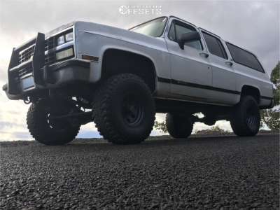 """1991 Chevrolet K1500 - 15x8 -27mm - Alloy Ion Style 171 - Suspension Lift 6"""" - 37"""" x 12.5"""""""