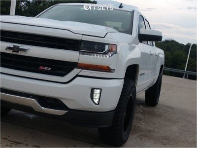 2016 Chevrolet Silverado 1500 - 18x9 -12mm - Panther Offroad 580 - Leveling Kit - 275/60R18