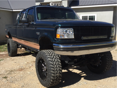 """1995 Ford F-350 - 22x12 -44mm - Fuel Cleaver - Suspension Lift 6"""" & Body 3"""" - 37"""" x 13.5"""""""