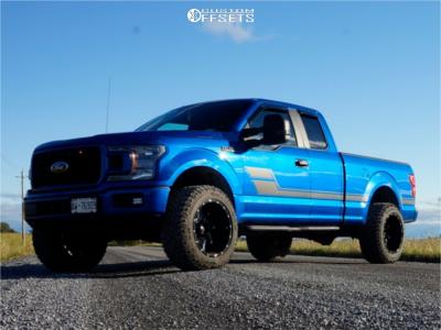 "2018 Ford F-150 - 20x12 -51mm - Vision Spyder - Suspension Lift 4"" - 305/55R20"