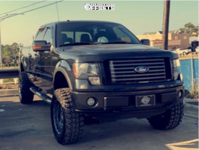 """2011 Ford F-150 - 20x12 -40mm - Dropstars 645b - Suspension Lift 4.5"""" - 35"""" x 12.5"""""""