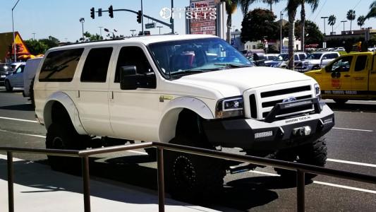 "2002 Ford Excursion - 17x9 -12mm - Raceline Monster - Suspension Lift 8"" - 40"" x 13.5"""