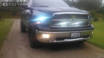"""2011 Ram 1500 - 20x8 19mm - Spaced Out Stockers Spaced out stockers - Stock Suspension - 32"""" x 10.5"""""""