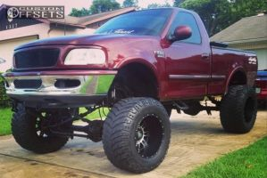 """1998 Ford F-150 - 20x14 -76mm - XD Riot - Lifted >9"""" - 38"""" x 15.5"""""""