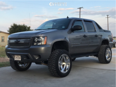"""2010 Chevrolet Avalanche - 22x12 -40mm - American Force Independence Ss - Suspension Lift 7.5"""" - 35"""" x 12.5"""""""