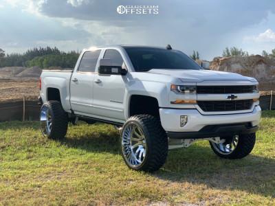 "2017 Chevrolet Silverado 1500 - 26x14 -76mm - Hardcore Offroad Hc15 - Suspension Lift 9"" - 37"" x 13.5"""