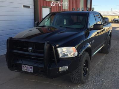 2009 Dodge Ram 1500 - 17x9.5 0mm - Black Rhino Locker - Stock Suspension - 315/75R17