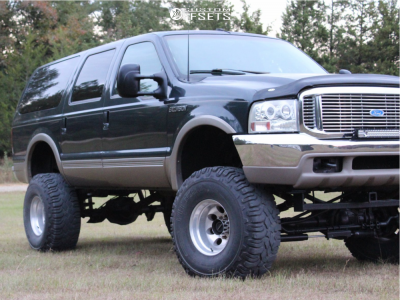 """2000 Ford Excursion - 16x12 -50mm - Mickey Thompson Classic Iii - Suspension Lift 10"""" - 39"""" x 13.5"""""""