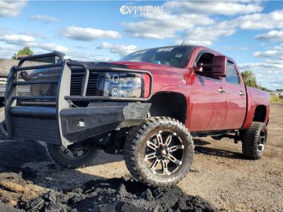 "2009 Chevrolet Silverado 1500 - 20x9 18mm - Red Dirt Road Rd09 - Suspension Lift 7.5"" - 35"" x 12.5"""