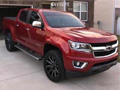 2015 Chevrolet Colorado - 20x9 0mm - Fuel Contra - Leveling Kit - 275/55R20