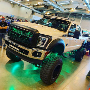 "2016 Ford F-350 Super Duty - 20x14 -75mm - Fuel Hostage D531 - Suspension Lift 12"" - 40"" x 15.5"""