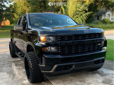 "2019 Chevrolet Silverado 1500 - 24x12 -54mm - Vision Rocker - Leveling Kit - 33"" x 12.5"""