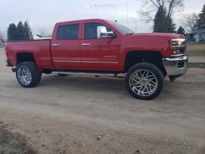 "2015 Chevrolet Silverado 2500 HD - 24x12 -44mm - TIS 544c - Suspension Lift 5"" - 325/45R24"