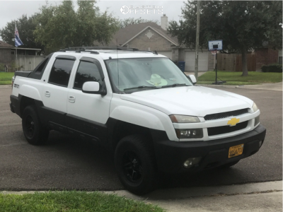 2006 Chevrolet Avalanche 1500 - 17x8.5 -12mm - American Outlaw Lonestar - Leveling Kit - 285/70R17