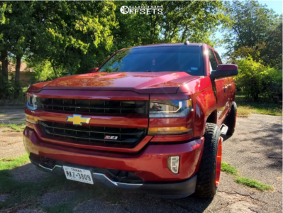 "2018 Chevrolet Silverado 1500 - 20x12 -44mm - TIS 544rm - Stock Suspension - 31"" x 11.5"""