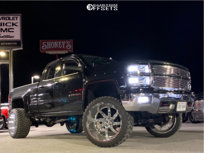 "2014 Chevrolet Silverado 1500 - 24x14 -76mm - American Truxx Vortex - Suspension Lift 6"" - 35"" x 13.5"""
