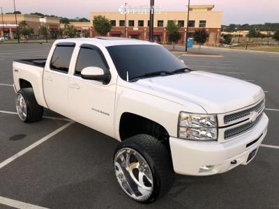 "2013 Chevrolet Silverado 1500 - 24x14 -73mm - American Force Blade Ss8 - Suspension Lift 4"" - 305/30R24"