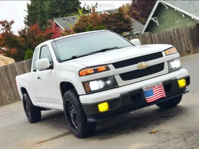 2010 Chevrolet Colorado - 18x9 0mm - Moto Metal Mo962 - Stock Suspension - 225/60R18
