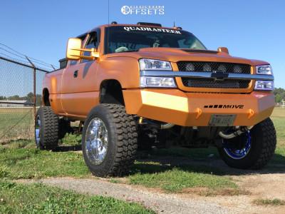 "2003 Chevrolet Silverado 1500 - 20x12 -44mm - Moto Metal Mo986 - Suspension Lift 6"" & Body 3"" - 35"" x 13.5"""