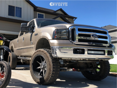 "2006 Ford F-350 Super Duty - 22x12 -44mm - Mayhem Arsenal - Suspension Lift 8"" - 37"" x 13.5"""