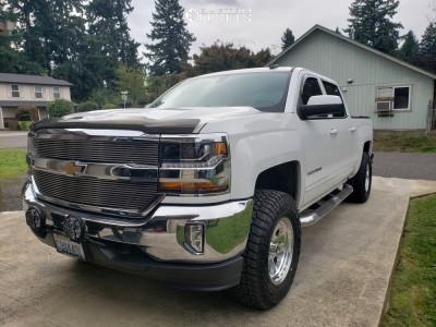 """2017 Chevrolet Silverado 1500 - 17x9 -12mm - American Racing Ar172 - Suspension Lift 2.5"""" - 285/70R17"""