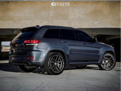 "2019 Jeep Grand Cherokee - 22x10.5 35mm - Velgen Vmb5 - Level 2"" Drop Rear - 305/35R22"