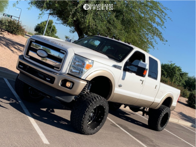 "2013 Ford F-350 Super Duty - 22x14 -76mm - TIS 544 - Suspension Lift 8"" - 375/45R22"