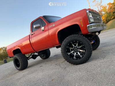 """1980 Chevrolet K20 - 20x14 -76mm - Fuel Maverick D537 - Suspension Lift 8"""" - 36"""" x 15.5"""""""