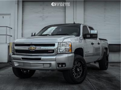 "2013 Chevrolet Silverado 1500 - 20x10 -24mm - XF Forged Xfx-303 - Suspension Lift 2.5"" - 285/50R20"