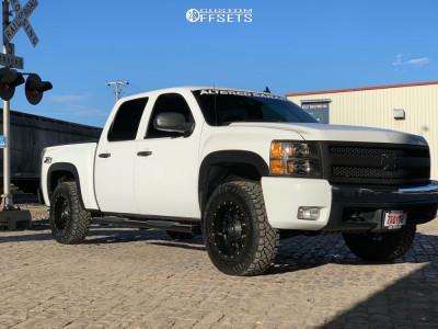 "2008 Chevrolet Silverado 1500 - 18x9 -12mm - Dropstars 645b - Suspension Lift 2.5"" - 265/70R18"