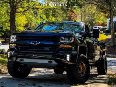 "2017 Chevrolet Silverado 1500 - 17x9 -12mm - Method Mr312 - Suspension Lift 3"" - 33"" x 12.5"""