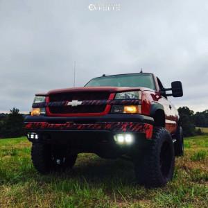"2004 Chevrolet Silverado 1500 - 20x12 -44mm - Scorpion Sc18 - Suspension Lift 6"" - 37"" x 13.5"""
