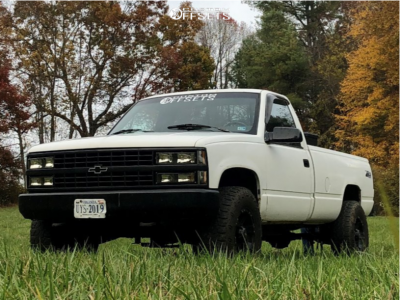 "1989 Chevrolet K1500 - 16x8 0mm - Raceline Raptor - Suspension Lift 3"" - 215/85R16"