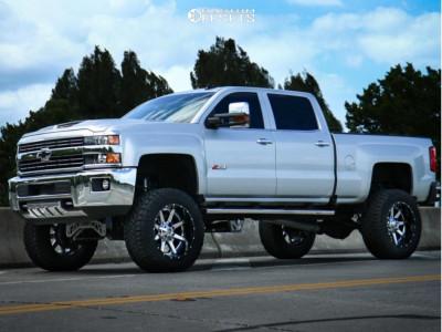 """2019 Chevrolet Silverado 3500 HD - 22x12 -44mm - Fuel Maverick D260 - Suspension Lift 8"""" - 38"""" x 13.5"""""""