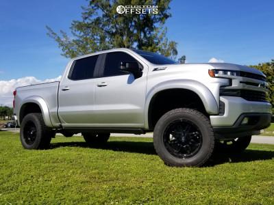 """2019 Chevrolet Silverado 1500 - 20x9 1mm - Fuel Hostage - Suspension Lift 6"""" - 35"""" x 12.5"""""""