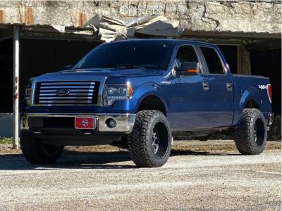 "2012 Ford F-150 - 20x12 -51mm - Vision Rocker - Leveling Kit - 33"" x 12.5"""