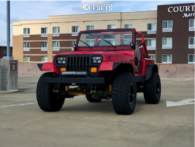 """1989 Jeep Wrangler - 15x10 -43mm - Fuel Lethal - Suspension Lift 2.5"""" - 33"""" x 12.5"""""""