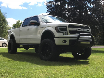 "2014 Ford F-150 - 20x12 -44mm - Fuel Hostage - Suspension Lift 8"" - 37"" x 13.5"""