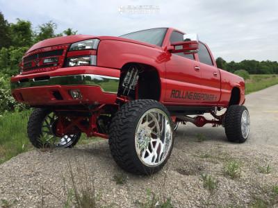 """2005 Chevrolet Silverado 1500 HD Classic - 26x14 -76mm - Rbp Forged Mojave - Suspension Lift 12"""" - 37"""" x 13.5"""""""