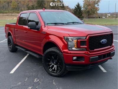2019 Ford F-150 - 20x9 1mm - Fuel Blitz - Stock Suspension - 305/50R20