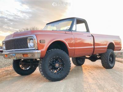 "1971 Chevrolet K20 Pickup - 17x9 0mm - Anthem Off-Road Instigator - Suspension Lift 4"" - 35"" x 12.5"""