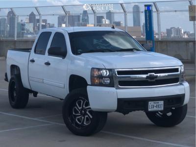 """2011 Chevrolet Silverado 1500 - 20x10 -18mm - Fuel Flow - Suspension Lift 2.5"""" - 33"""" x 12.5"""""""