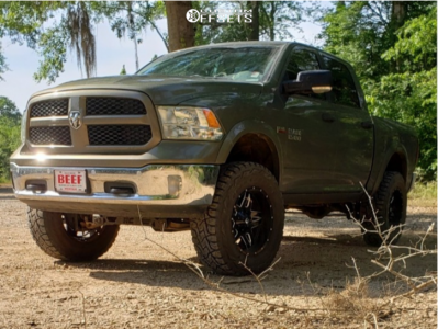 """2015 Ram 1500 - 20x10 -12mm - Fuel Full Blown - Suspension Lift 6"""" - 37"""" x 12.5"""""""