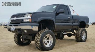 "2005 Chevrolet Silverado 1500 - 20x14 -76mm - Weld Racing 015 - Lifted >9"" - 38"" x 15.5"""