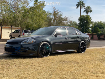 2012 Chevrolet Impala - 20x9 35mm - Niche Misano - Lowering Springs - 255/35R20