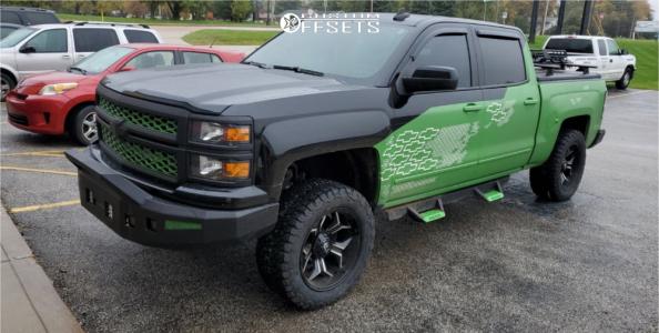 2015 Chevrolet Silverado 1500 - 20x10 -18mm - Fuel D606 - Leveling Kit - 305/55R20